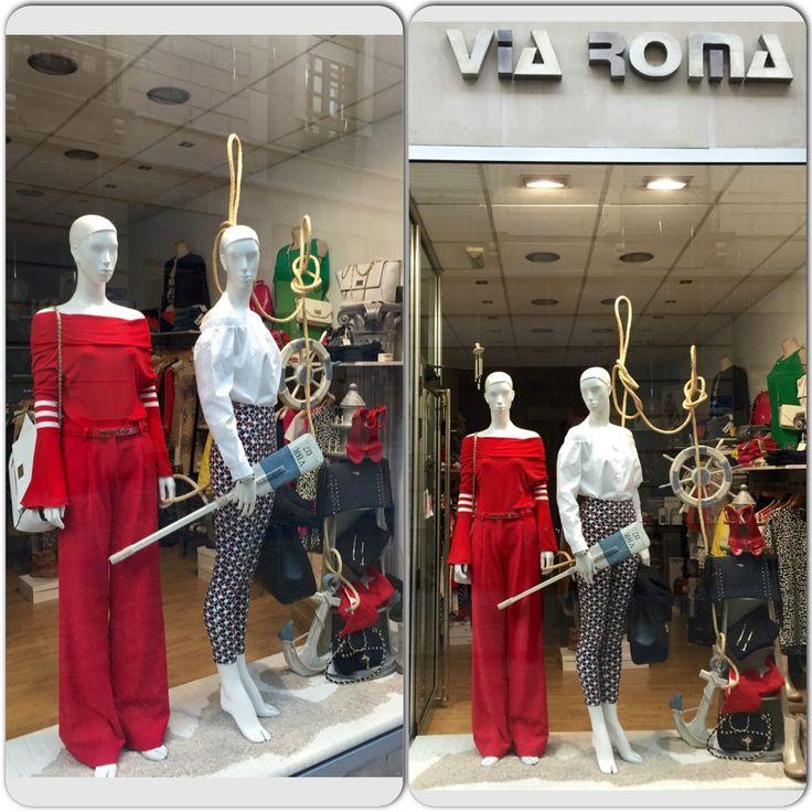 Denny rose#viaroma#viaromashop#red# white #fashion