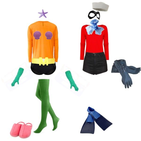 Mermaid Man and Barnacle Boy Couple Costume Halloween Spongebob DIY