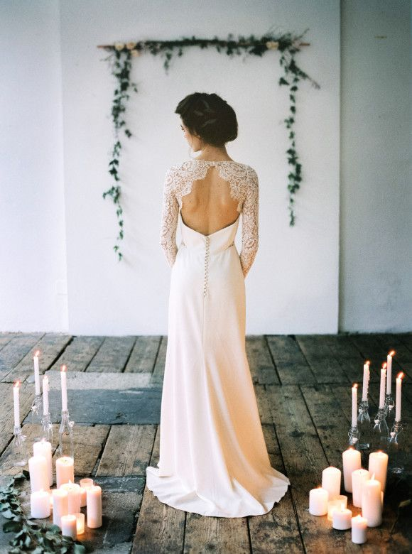 Pale Blue and Gold Urban Wedding Ideas | Wedding Sparrow | Rime Arodaky Gown
