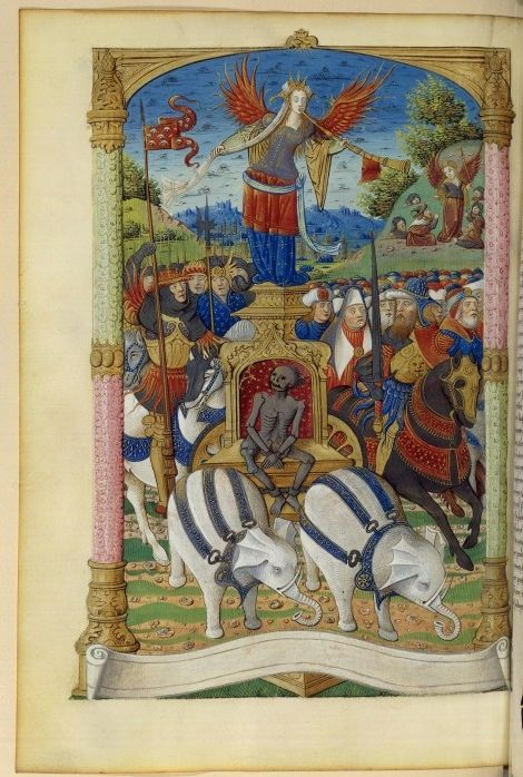Francais_223,_fol._160v,_Allegorie._Triomphe_de_la_Renommee.jpeg (470×698)