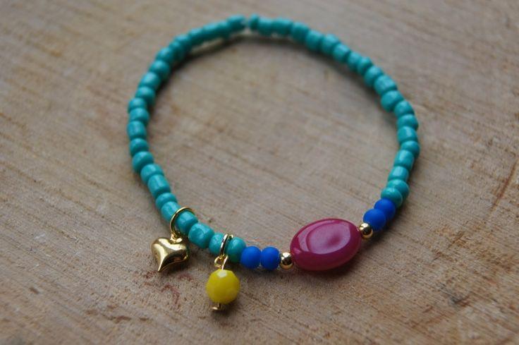 Armbandje Small Stone turquoise