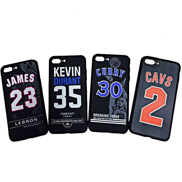 Noctilucent Soft TPU Case for iPhone 7 7S Plus NBA Basketball Kevin Durant 35 Cavs 2 Kyrie Irving Lebron James 23 Curry 30 Kobe