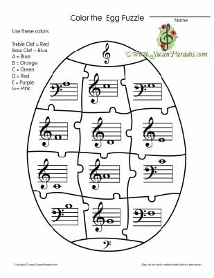 Color the Egg Puzzle Today I am posting a black and white puzzle to identify notes around middle C. I plan to use it as a coloring sheet to send home in their binder because I don't have time to do...