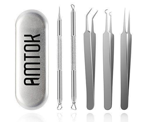 Blackhead-Remover-Kit-Curved-Tweezers-Set-Pimple-Extractor-Tool-Dermatologist
