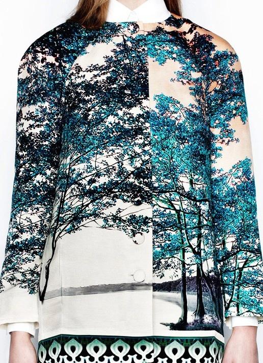 Graphic Photographic Prints - digital, nature print jacket // Mary Katrantzou