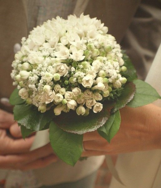Bouquet (bouvardia and gypsophila) by Dogaressa Flowers, Venice. Wedding by The Venice Wedding Planner