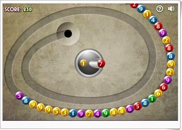 """""""Math Lines"""" es un juego en el que hay que completar 10. Disparando con una bola a otra bola, entre ambas han de sumar 10. Tiene un poco de habilidad pues las bolas están bastante juntas y hay que afinar. Por eso gustará a los niños."""
