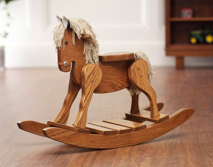 unfinished wooden rocking horse 3