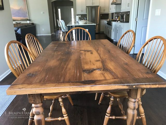 Reclaimed Oak Barnwood Farmhouse Table I Recently Purchased A
