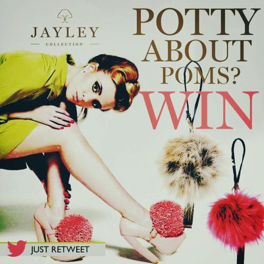 Love Jayley accessories? Now you have the chance to WIN a faux fur oversized Pom Bag Tag. See our Twitter @jayleyonline for details to WIN. Individualise your look, create your own statement. winner will be selected by Tuesday 26th April 2016 www.jayley.com