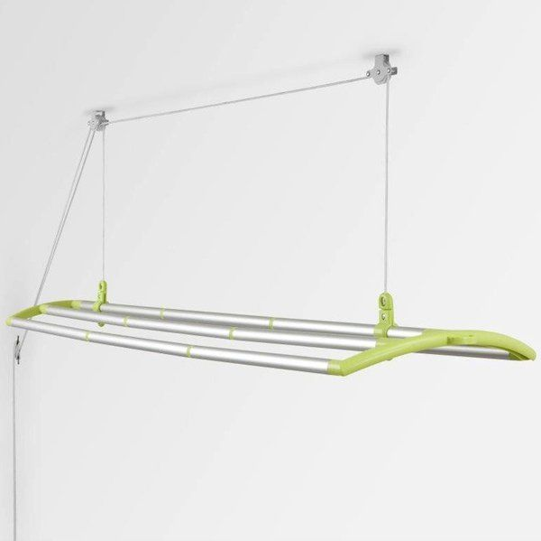 ceiling mounted drying rack living in small spaces drying rack laundry hanging clothes. Black Bedroom Furniture Sets. Home Design Ideas