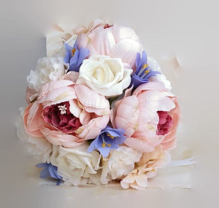 Vintage pink peonies & roses bouquet, peony bridal bouquet, bridesmaid bouquet, pastel flowers, silk wedding flowers, silk bridal bouquet by DunnCrafting on Etsy https://www.etsy.com/uk/listing/482743705/vintage-pink-peonies-roses-bouquet-peony