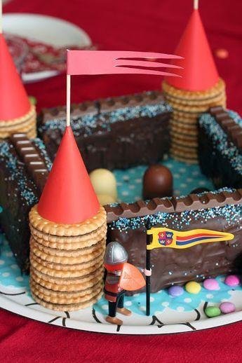 Geburtstagstorte Castle Ritter   – Kindergeburtstag – Ideen | kids birthday party