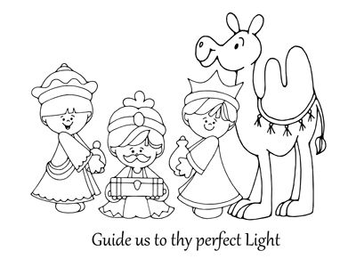 Wise Men Coloring Sheet