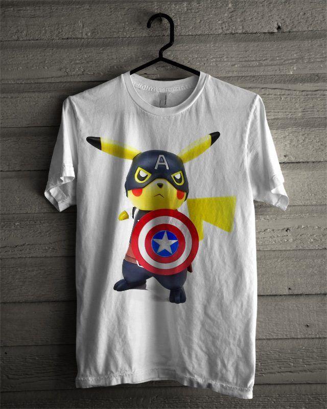 28da9c30 Deadpool Captain America Pikachu T Shirt | T-Shirt invinitees ...