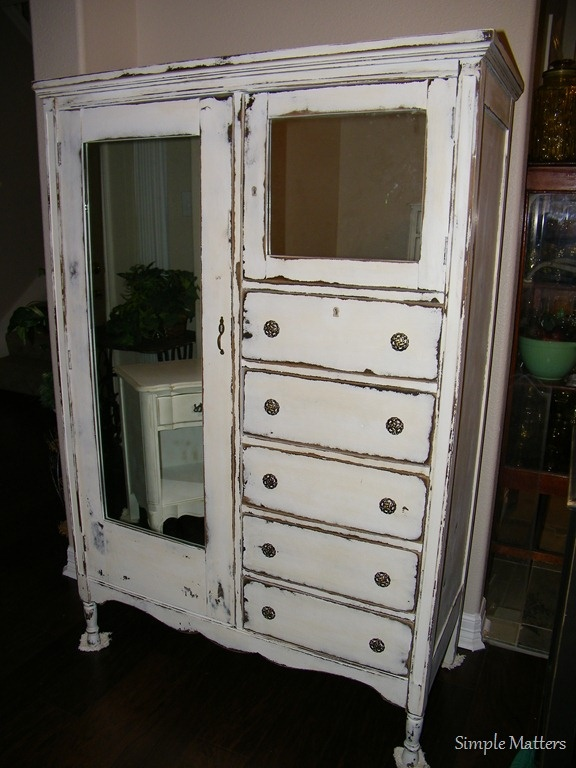 Antique Distressed Armoire In 2019 Bathroom Furniture