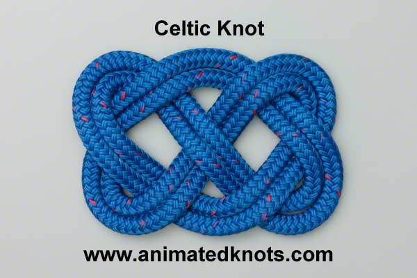 Tutorial on Celtic Knot Tying - site has many different animated how-tos for different knots.