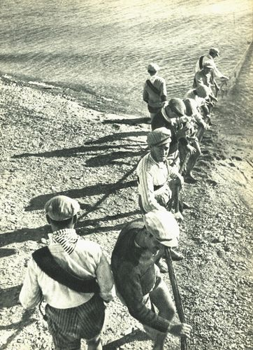 This is my Greece   Seamen drawing the nets in Tolo (1950)