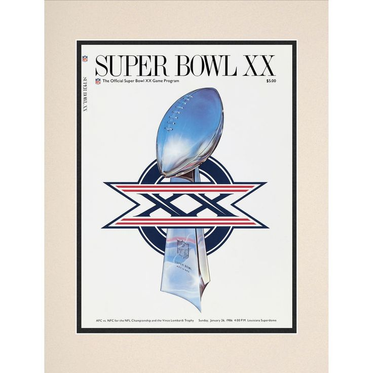 "Fanatics Authentic 1986 Bears vs. Patriots 10.5"" x 14"" Matted Super Bowl XX Program"