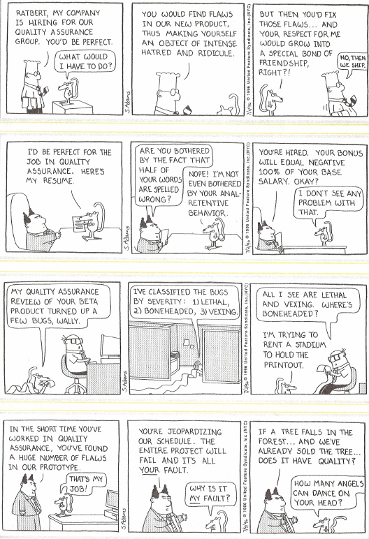 Software Quality Assurance Forums: Best QA Dilberts!
