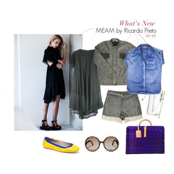 What's New at Styling Stories - MEAM by Ricardo Preto Summer Spring 2015 Collection at stylingstories.com #fashion #fashion2015 #stylish #PolyvoreMostStylish #style #dress #blackdress #jacket #shorts #luxury #ballerinas #flats #picnicbakstes #sunglasses #woodglasses #fashiondesigners #DenimStyle #design