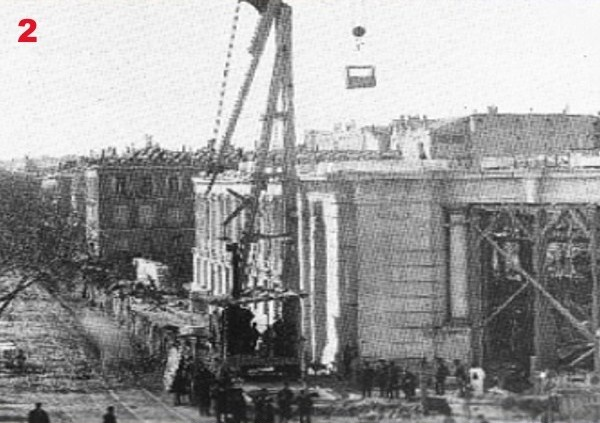 The construction of Bank of Spain, 1884