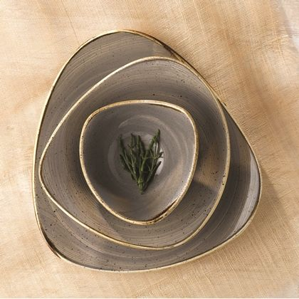 Churchill China Stonecast Peppercorn Grey Triangle Plates & 72 best Stonecast Tableware images on Pinterest | Churchill ...