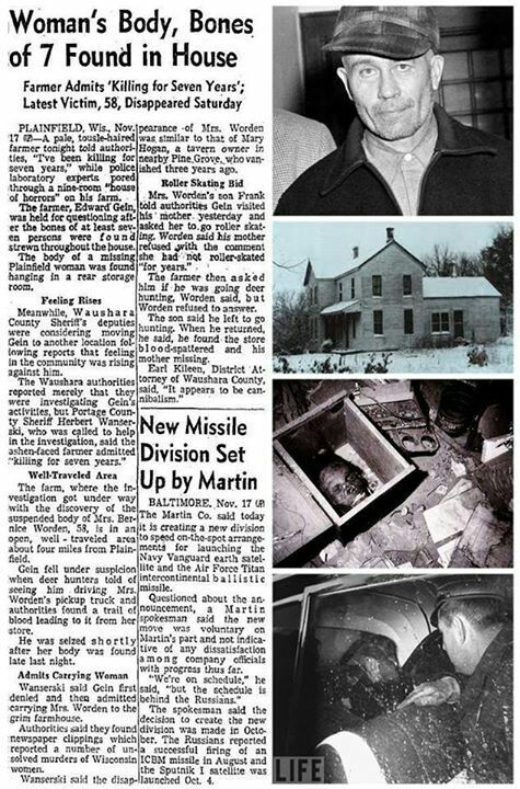 ed gein Explore eric paquin's board ed gein crime scene photos warning graphic on pinterest | see more ideas about macabre, serial killers and true crime.