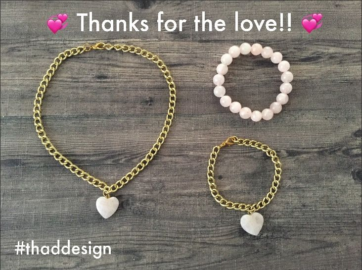 Are you on Instagram?  We reached 1000 Followers on Instagram and to show our Thanks, we are giving away a chain choker with heart pendant, a chain bracelet with heart pendant and a matching rose quartz bead bracelet.   A lucky winner will be chosen on September 6, 2017. Find this image on Instagram for full details!  #contest #giveaway #jewelry #heart #love #thankful