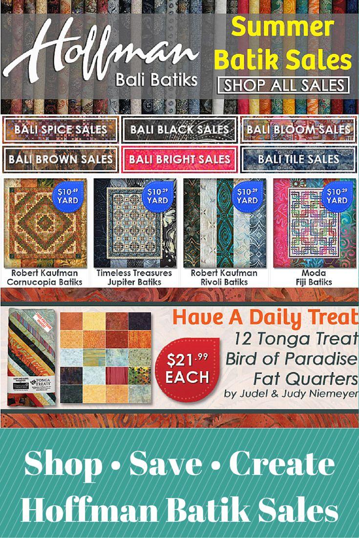 Designer deals club for hancock - Our Weekly Email Includes Hoffman Bali Batik Sales Tonga Treat Fat Quarters Daily Treat Deals