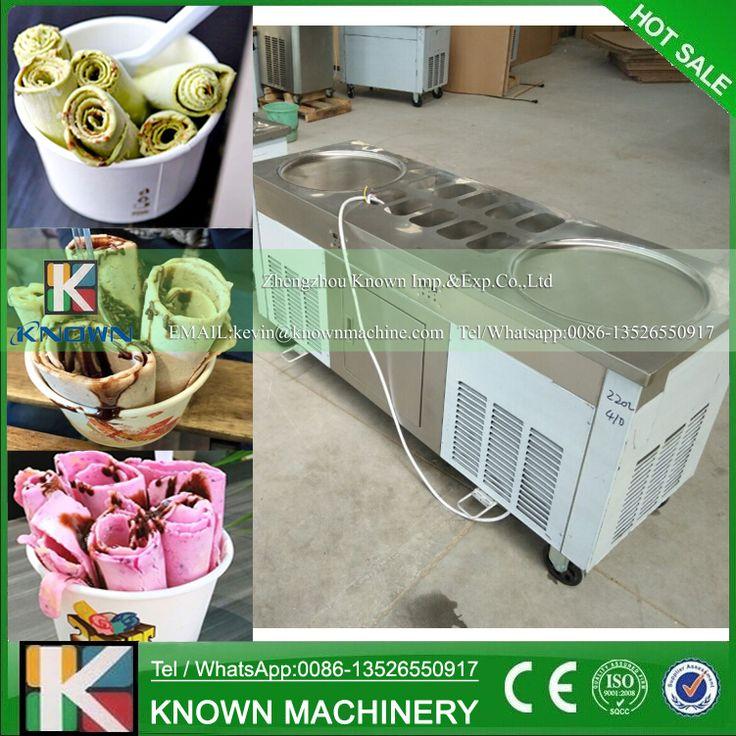 50 50cm pan fried ice cream machine thailand ice cream roll maker control panel