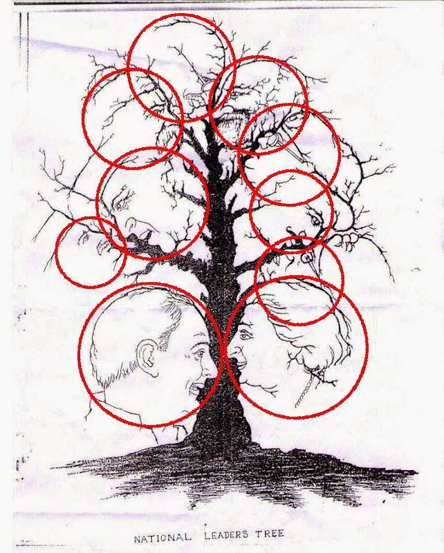 ¿Cuántas caras ves en este árbol?