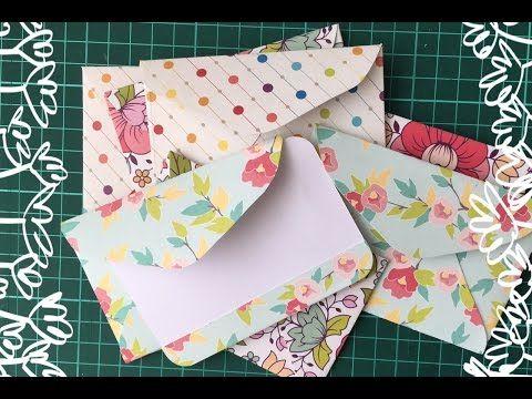 Como fazer cartões e envelopes simples? - YouTube