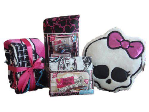 Monster High Bedroom Decor | MONSTER HIGH Twin Bedding Set COMPLETE!  Comforter, Sheets,