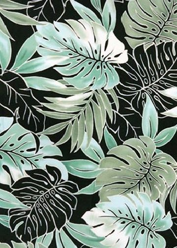 10'Omalu Tropical  fabricleafy botanical design, including Palm leaf, monstera, and plumeria all over design.