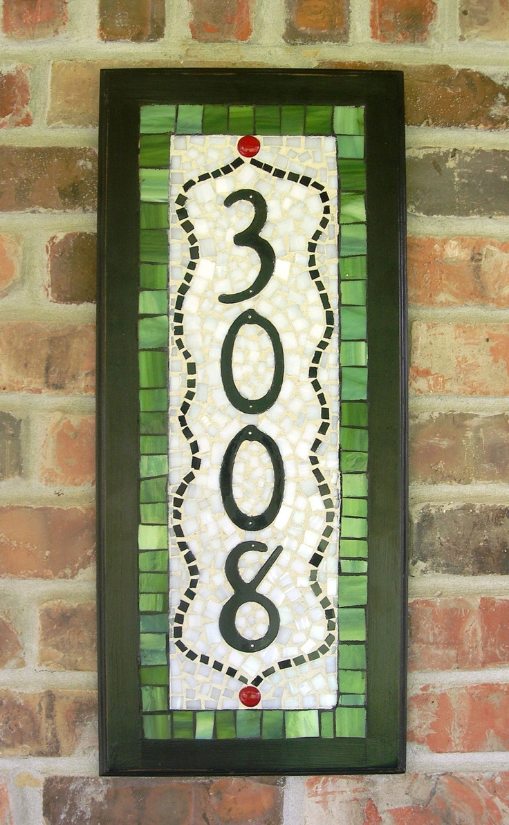 Mosaic house numbers...great ideas!