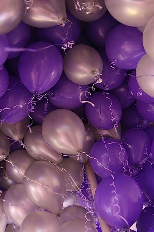 Purple & silver balloons!
