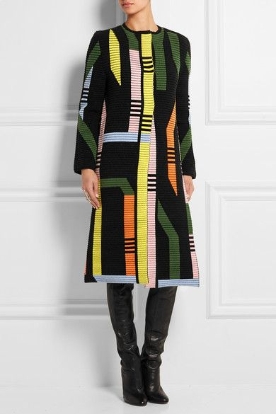 Peter Pilotto | Track ribbed stretch wool-blend coat | NET-A-PORTER.COM
