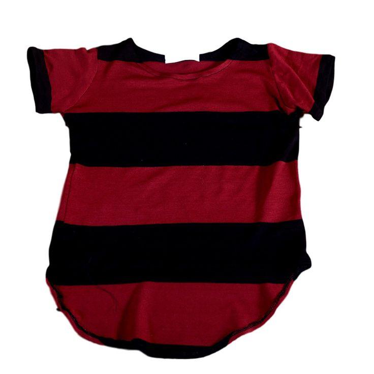 t-shirt bordeaux and black stripes