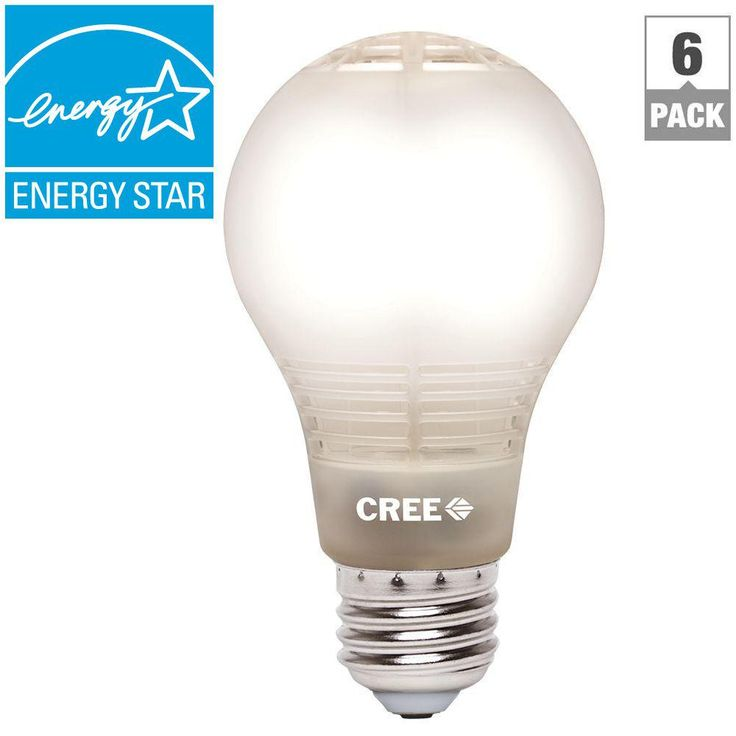 Cree 60W Equivalent Soft White (2700K) A19 Dimmable LED Light Bulb with 4Flow Filament Design (6-Pack)