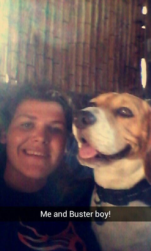 Selfies with Buster the chubby cite amd adorable Beagle