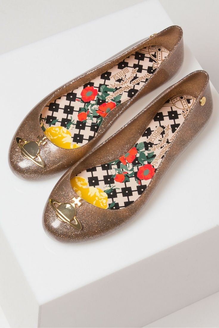 Space Love Orb ballet flats, created by Melissa + Vivienne Westwood. Unmistakable thanks to their gorgeous fruity scent and PVC construction.
