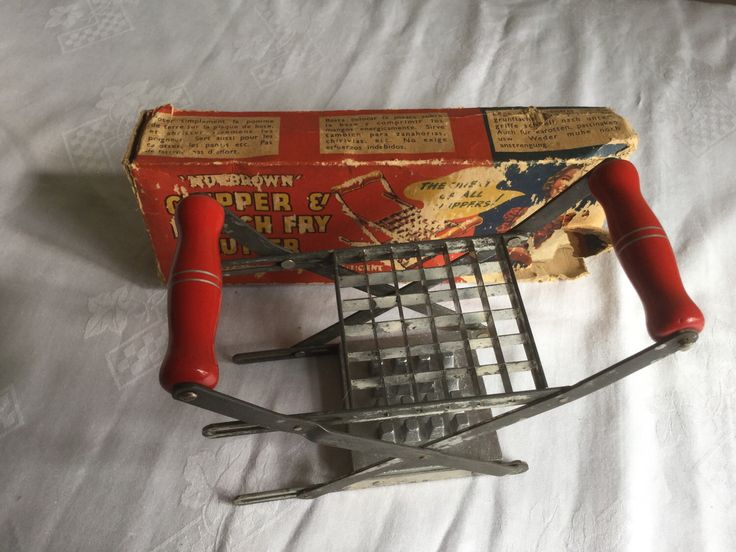 A personal favourite from my Etsy shop https://www.etsy.com/uk/listing/505692942/vintage-nutbrown-french-fry-cutter