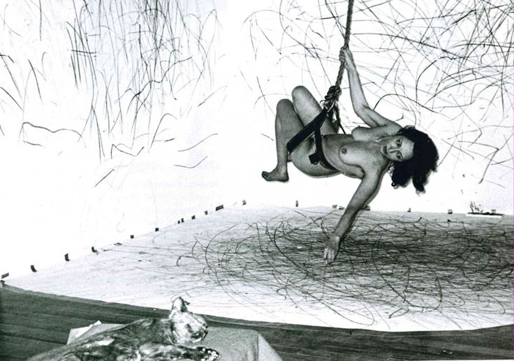 Carolee Schneemann, Up to and Including Her Limits, 1973–76, performance, live…