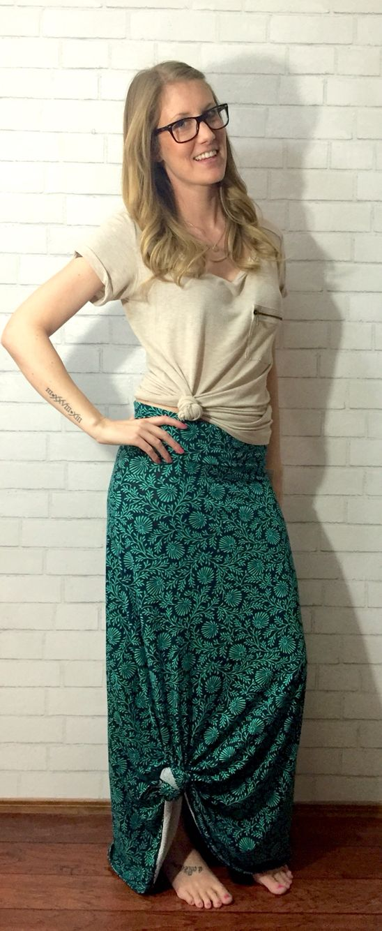 LuLaRoe Maxi Skirt - knotted on the side! Perfect look for summer!  My VIP shopping group - Facebook.com/groups/lindseyslularoeloft