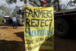 Quest for coal seam gas sullies name of Santos