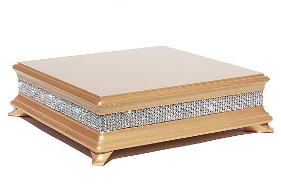 18 inch Square Gold Diamond Cake Stand by WeddingFads on Etsy, $159.95