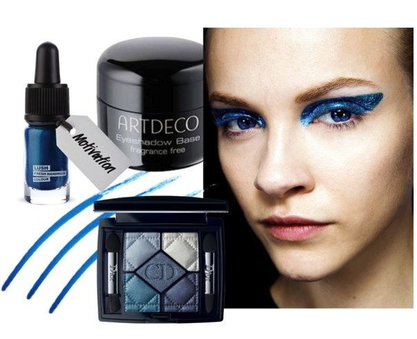 How to create Dior's eyeliner from f/w 2014 fashion shows on beautyfullblog.si