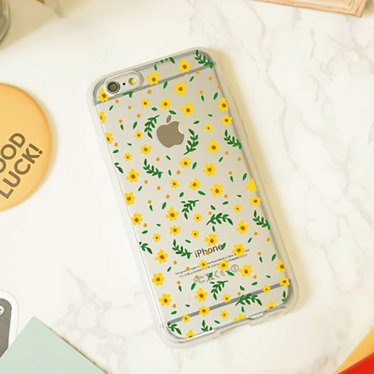 Jelly Clear Design Phone Case - Your Little Yellow Flowers