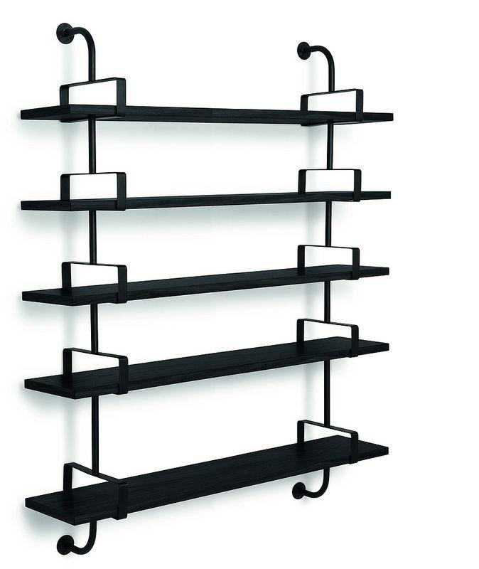 GUBI // Demon Shelf 5 shelves, width 155 cm in black. Designed by Matheiu Matégot